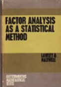 Factor Analysis as a Statical Method